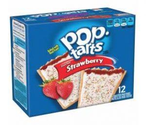 box of strawberry flavored pop tarts