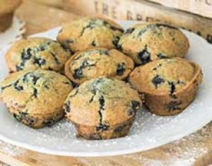 freshly made blueberry muffins