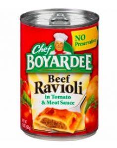 canned beef ravioli