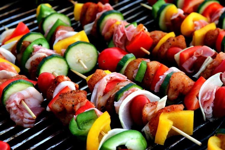 cooking skewers for camping meals made ahead of time