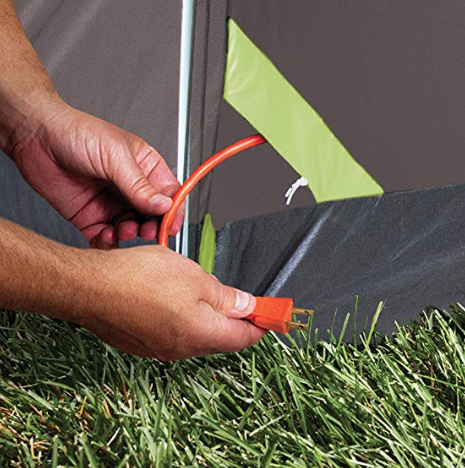 plug escape for tent
