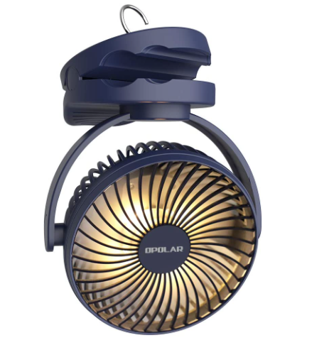 camping tent fan with built in lantern