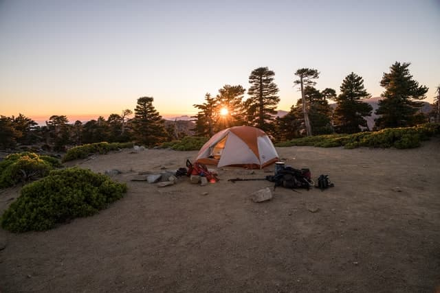 morning on a campsite