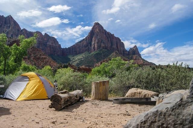 plain campsite