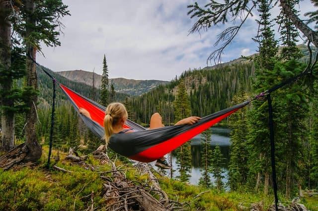 woman in hammock in jungle